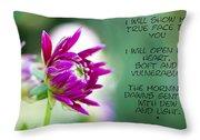 True Face - Poem - Flower Throw Pillow