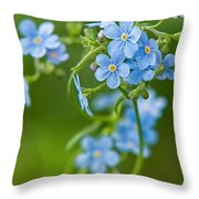 True Forget-me-not Throw Pillow