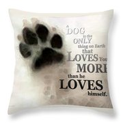 True Love - By Sharon Cummings Words By Billings Throw Pillow