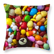 Truffle And Candy Throw Pillow