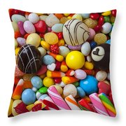 Truffles And Assorted Candy Throw Pillow