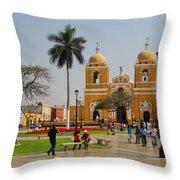 Trujillo Peru Plaza Throw Pillow