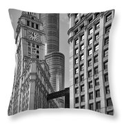Trump And Wrigley In Harmony Throw Pillow