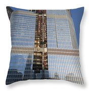 Trump International Hotel Under Construction Chicago Throw Pillow