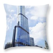 Trump Tower 3 Letter Signage Throw Pillow