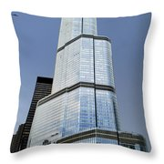 Trump Tower Facade 3 Letter Signage Throw Pillow