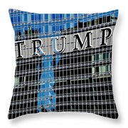 Trump Tower Marquee Throw Pillow