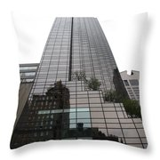 Trump Tower Reflection New York Throw Pillow