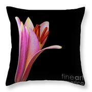 Trumpet Lily Throw Pillow