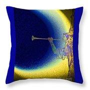 Trumpet Moon Throw Pillow
