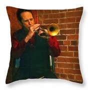 Trumpet Solo Throw Pillow