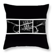 Trumpet Triptych Throw Pillow