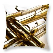 Trumpet Valves Throw Pillow