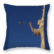 Trumpeter  Throw Pillow by First Star Art