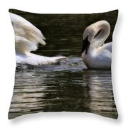Trumpeter Song Throw Pillow