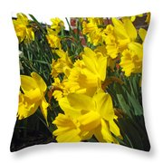 Trumpeters Of Spring Throw Pillow