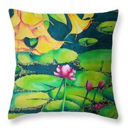 Trumpets And Lilies Throw Pillow