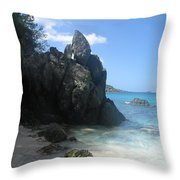 Trunk Bay St. John  Usvi Throw Pillow