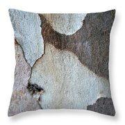 Trunk Of A Eucalyptus Tree  Throw Pillow