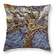 Trunk Of A Tree Throw Pillow