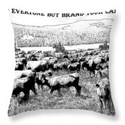 Trust Everyone Throw Pillow