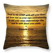 Trust In The Lord  Throw Pillow by Barbara Snyder
