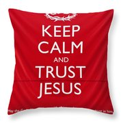 Trust Jesus 01 Throw Pillow by Rick Piper Photography