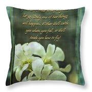 Trusting God Throw Pillow