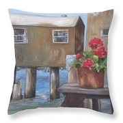Trusty Geranium Throw Pillow