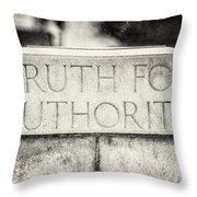 Truth For Authority Lucretia Mott  Throw Pillow