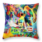 Truth For Sale N Throw Pillow by David Baruch Wolk
