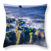 Trwyn Du Lighthouse Throw Pillow