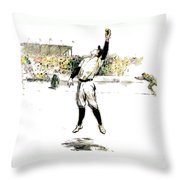 Trying For The Catch Throw Pillow