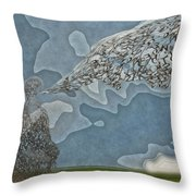 Trying To Find The Right Words Throw Pillow by Jack Zulli