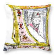 Tsar In Carriage Throw Pillow by Marwan George Khoury
