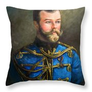 Tsar Nicholas II Of Russia Throw Pillow