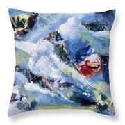 Tsunami 3 Throw Pillow