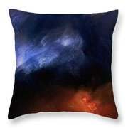 Tsunami Abstract Throw Pillow