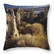 Ttufa Formations Mono Lake California Throw Pillow