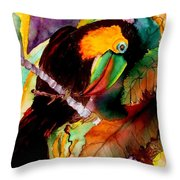 Tu Can Toucan Throw Pillow