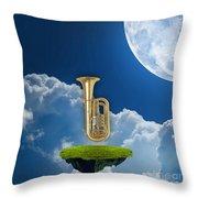 Tuba Dreams Throw Pillow
