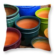 Tubac Pottery 2 Throw Pillow