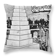 Tuberculosis, 1894 Throw Pillow
