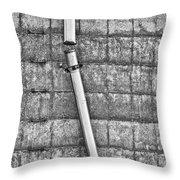 Tubular Disconnect Bw Throw Pillow