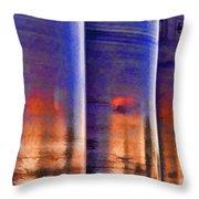 Tubular Sunset Throw Pillow