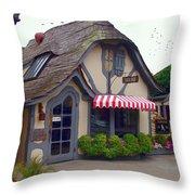 Tuck Box Tearoom - Carmel California Throw Pillow