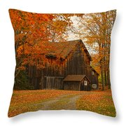 Tucked In The Trees Throw Pillow