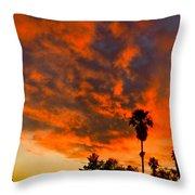 Tucson Arizona Sunrise Fire In The Sky Throw Pillow