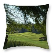 Tucson Foothills Golf Course Throw Pillow