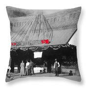 Tucson Gas And Electric Company In Tucson C. 1913 The Year Villa Visited Tucson -2010 Throw Pillow